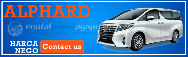 Harga Rental Toyota Alphard 2020