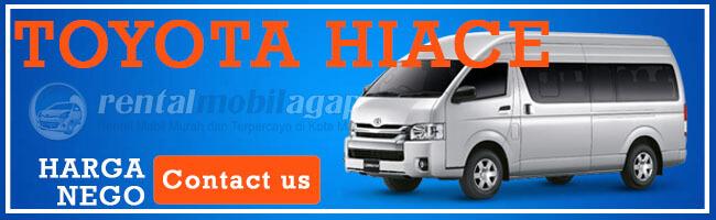 Harga Rental Toyota Hiace 2020